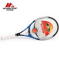 Marktop Tennis Rackets Carbon Fiber Aluminum Alloy Adult Racquet With Racquet Bag Tennis Training Racket High Quality M3225