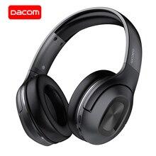 DACOM auriculares HF002 con Bluetooth 5,0, por encima de la oreja, con micrófono incorporado, estéreo, para TV, Samsung y iPhone
