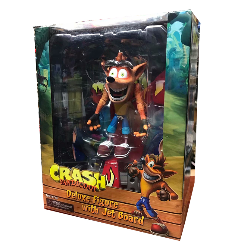 Crash Bandicoot PVC Painted Statue 9 inch First 4 Action Figure Toy Doll Gift