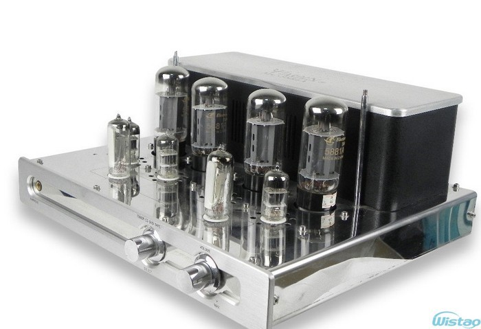 Tube Amplifier 2X23W Preamp of SRPP and Long-tailed&Cathode Output Inverting Circuit Mono-block Integrated with Headphone Output music hall hifi power integrated tube amplifier ge5670 pcm2706 pga232 usb 2 70w tube preamp with remote control