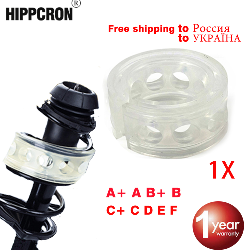 Hippcron Car Shock Absorber Spring Bumpers Power Auto-Buffers 1 Pcs A/B/C/D/E/F Type Cushion Buffer 1pc car shock absorber spring bumper power a b c d e f a b type cushion buffer auto springs bumpers universal for car buffer