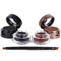 MISMXC 4 In 1 Gel Eyeliner And Eyebrow Powder Water Proof Eye Makeup Cosmetic Set With