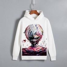 Tokyo Ghoul Ken Kaneki Print Pullover Hoodie Sweatshirt