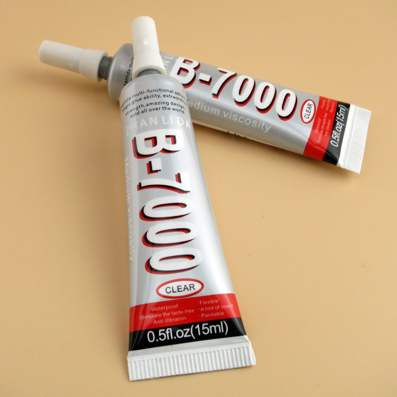 1 tube glue b7000 15ml transparent multi purpose b 7000 adhesive jewerly craft rhinestones diy phone