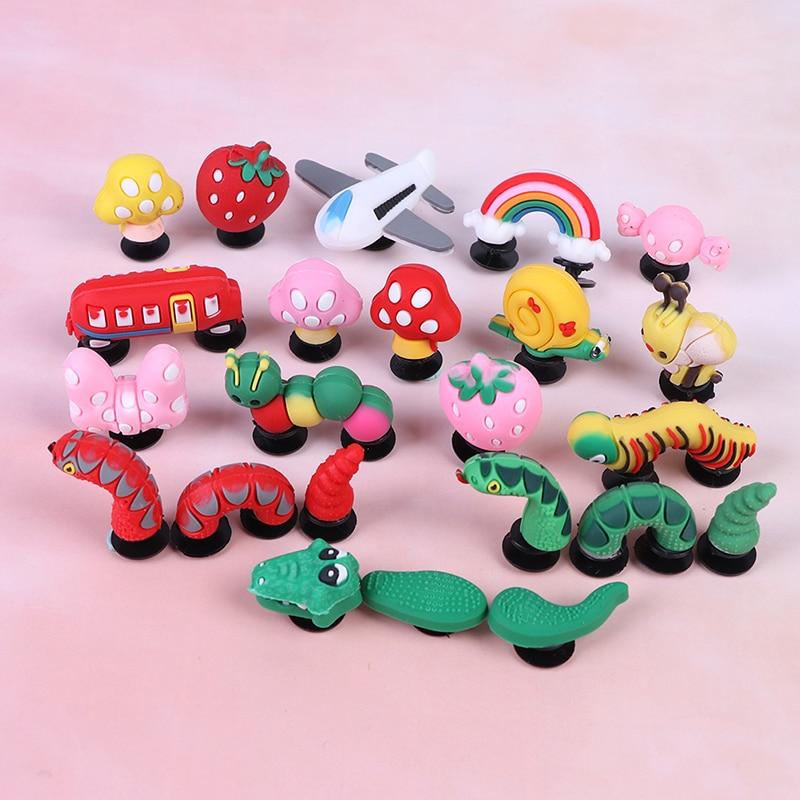 High Imitation PVC Shoe Charms Cartoon Shoe Buckles Accessories Fit Bands Bracelets Shoe Decoration 1PC