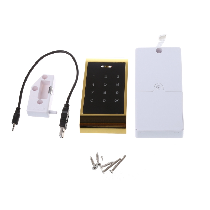 OOTDTY Electronic Touch Keypad Password Key Access Digital Security Cabinet Code Lock straight to advanced digital student s book pack internet access code card