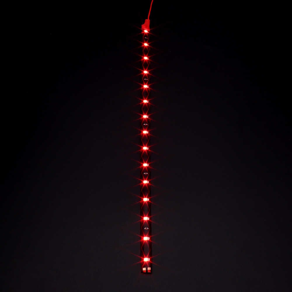 """12 فولت 11.8 """"15SMD إضاءة مقاومة للماء يوم تشغيل ضوء 30 سنتيمتر سيارة مرنة LED قطاع ضوء سيارة الزخرفية DRL سيارة التصميم"""