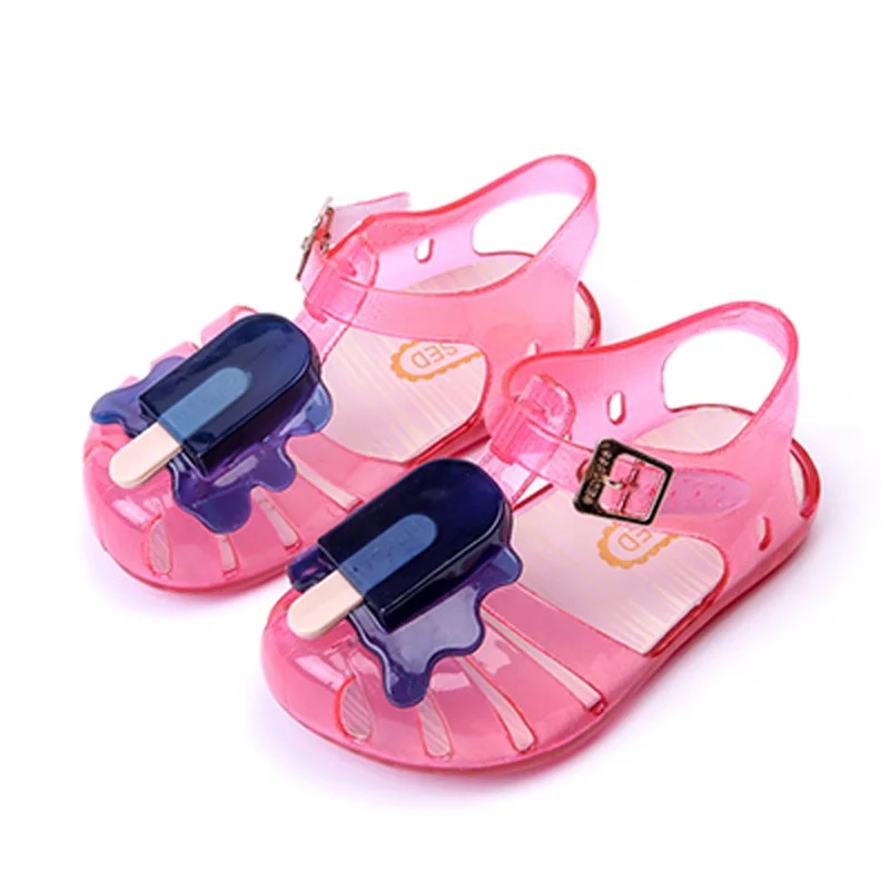 11.8-20.8cm 2019 Mini Melissa Ice Cream Popsicles Fruit Baby Girls Sandals Shoes Summer Jelly Shoes For Toddlers