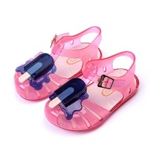 11.8-19.8cm 2016 Mini sed ice cream popsicles fruit baby girls sandals shoes summer jelly for toddlers