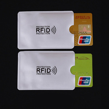 2PCS Anti Rfid Wallet Blocking Reader Lock Bank Card Holder Id Bank Card Case Protection Metal Credit Card Holder Aluminium Foil Passport & ID Holders