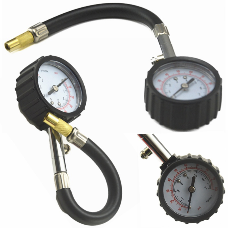 Universal Auto Car Air Tire Pressure Inflator Gauge Car Truck Motorcycle  Flexible Hose Pressure Gauge Dial Meter Vehicle Tester air pressure gauge 0 300 psi 0 16 bar with inflating gun fit for auto car motorcycle bicycle type measure meter 6007