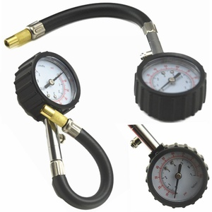 Universal Auto Car Air Tire Pressure Inflator Gauge Car Truck Motorcycle Flexible Hose Pressure Gauge Dial Meter Vehicle Tester(China)