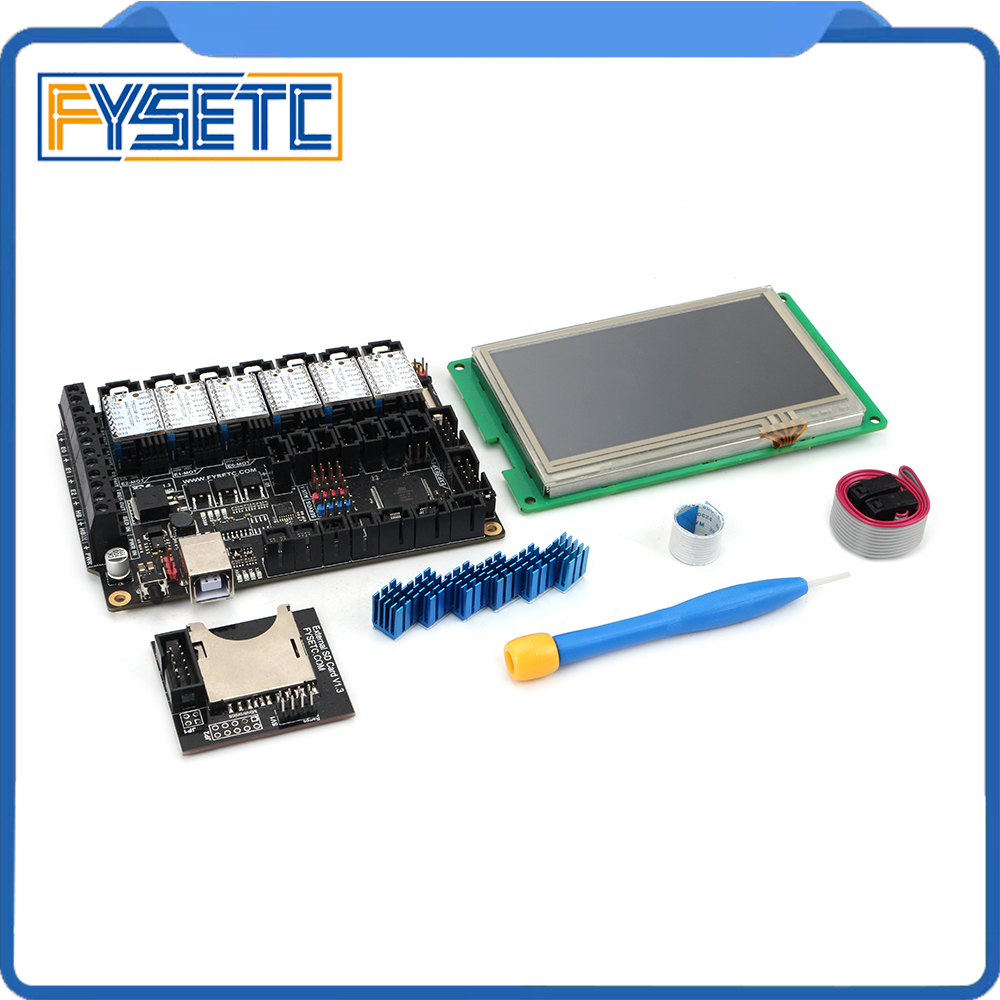"Image 4 - FYSETC F6 V1.3 ALL in one Mainboard + 4.3"" Touch Screen + 6pcs TMC2100/TMC2208 /TMC2130 v1.2/DRV8825/S109/A4988/ST820-in 3D Printer Parts & Accessories from Computer & Office"