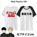 Nuevo Anime Mobu Saiko Hyaku Camiseta Mafia Psico 100 camiseta Cosplay Traje Hombres de La Moda de Las Mujeres Camiseta de algodón de Manga Corta Camisetas