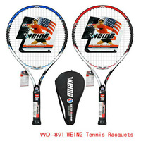 WEING authentic WD891 tennis racket training single man carbon aluminum super light single tap beginners