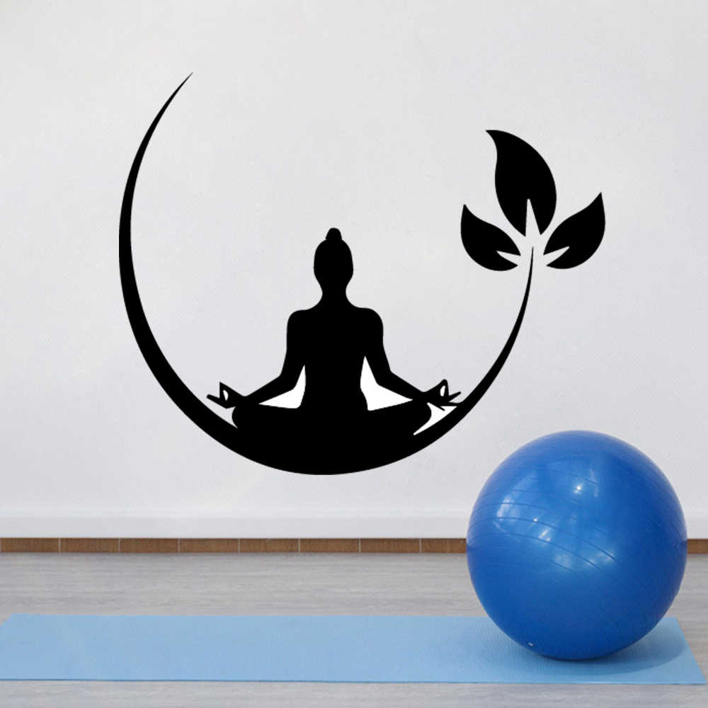 Yoga Meditation Vinyl Wall Stickers Buddhist Zen Wall Decal For Bedroom Removable Wall Sticker Decor Yoga Wallpaper Aliexpress