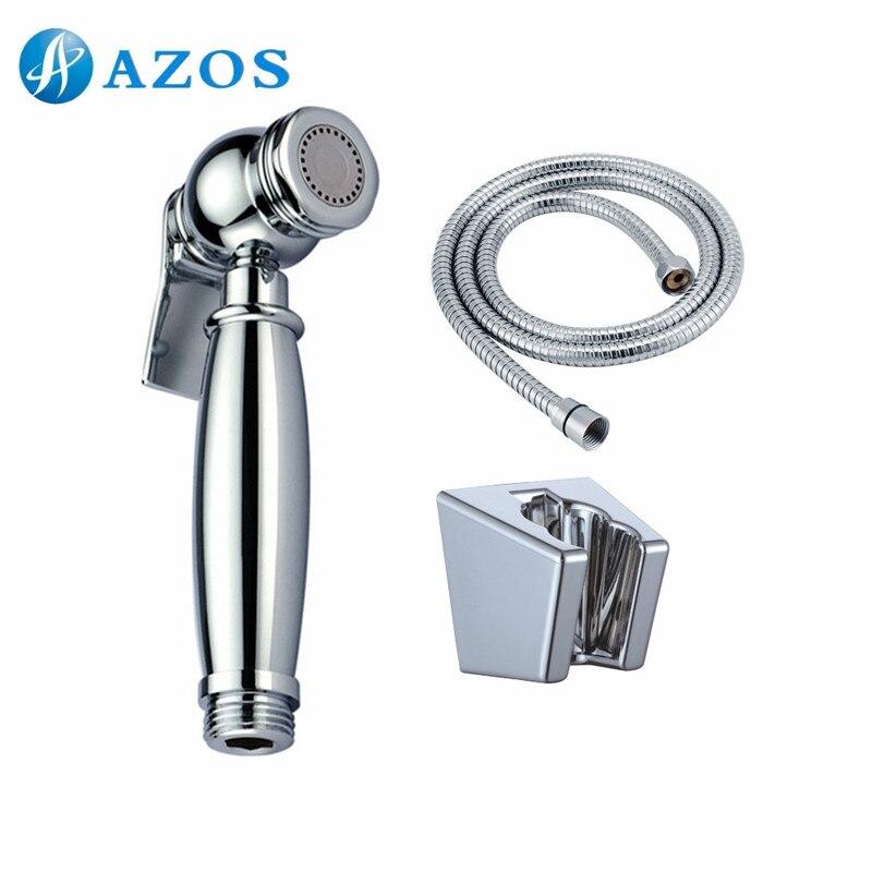 Toilette à main Bidet Shattaf chiffon pulvérisateur à couches en acier inoxydable tuyau en plastique ABS support mural Chrome FXQK002