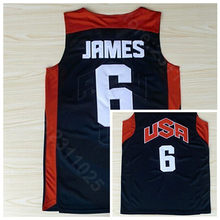 3ba05af3e Ediwallen Men 6 LeBron James 2012 USA Dream Team Ten Basketball Jerseys  Uniform Navy Blue Home