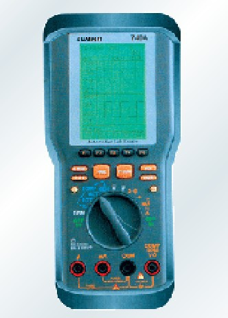 South Korea SUMMIT handheld mini digital oscilloscope (dual channel) DMM-740A automatic range