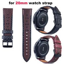 20mm de cuero reloj de pulsera Correa para Xiaomi Huami Amazfit Bip poco Correa Samsung Gear S2 S4 banda el Huawei Watch 2 Correa