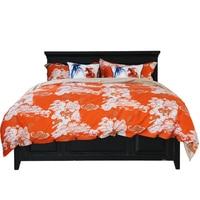 HANSURE Classic bedding set 1.5m 1.8m size flower printed bed linens 4pcs/set duvet cover set bed sheet duvet cover pillow case