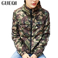 Camouflage Printed Men Hooded Jackets Plus Size M-5XL Elasticity Lap Style Coats 2017 Autumn Spring Man Casual Outerwear