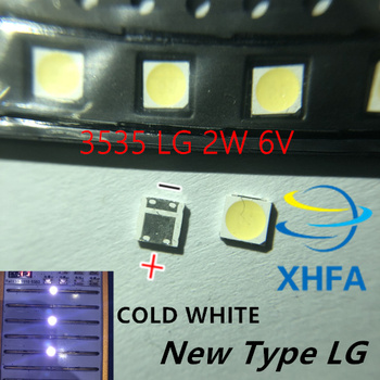 100PCS FOR LCD TV repair LG led TV backlight strip lights with light-emitting diode 3535 SMD LED beads 6V image