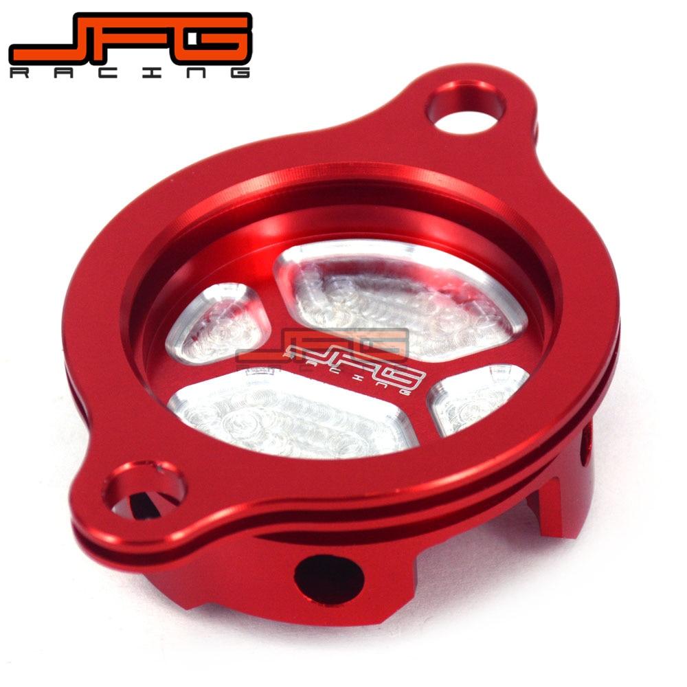 CNC Aluminium Red Oil Filter Cover Cap For Honda CRF450R CRF 450R 2009 2010-2016