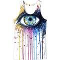 Recentes 2017 Rainbow olhos impresso tanque dos homens tops alta qualidade homens ativos Verão Musculação colete Sportswear 3D Tshirt M Para 6XL