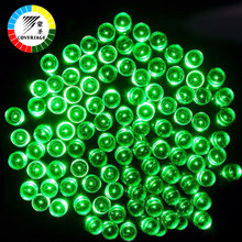 Coversage 100 Leds Outdoor Yellow Solar Lamps LED String Lights Fairy Holiday Christmas Garlands Solar Garden Waterproof Lights(China)