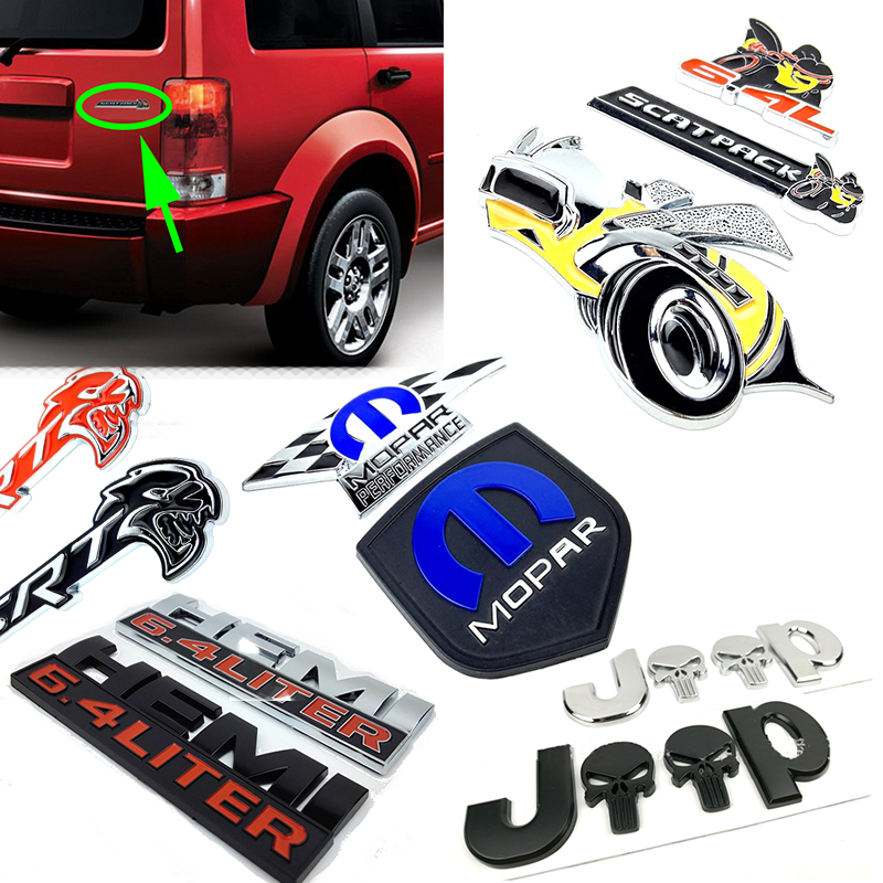 Car Styling Emblem Badge Brand 3D Metal Skull Sticker For Jeep Renegade Compass Wrangler JK 4x4 Grand Cherokee Chevrolet Ford