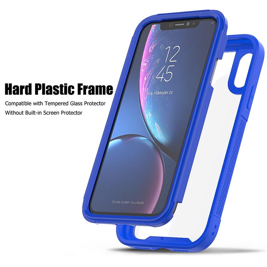 HTB17vRELNTpK1RjSZR0q6zEwXXaG Transparent Anti-Scratch Protective Case For iPhone 11 Pro Max 6 6s 7 8 Plus X XS Max XR Hard PC+ TPU Bumper Dual Layer Cover