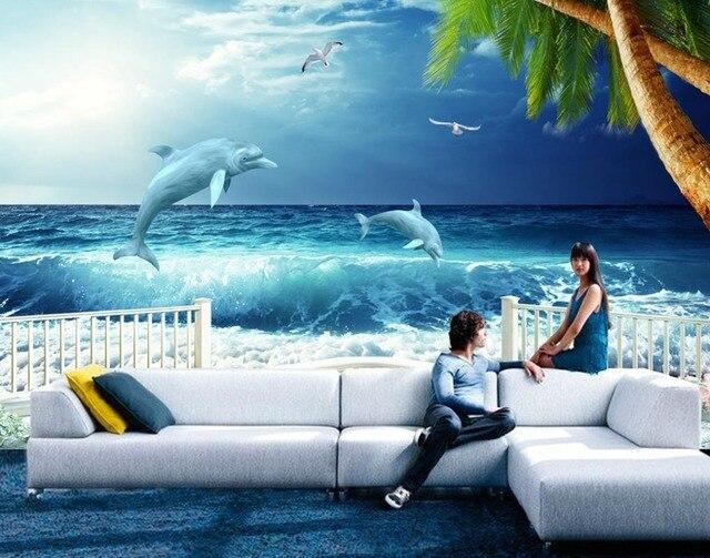 Kreative 3D wohnzimmer Tapete blau Wohnkultur Tapeten Malerei big ...