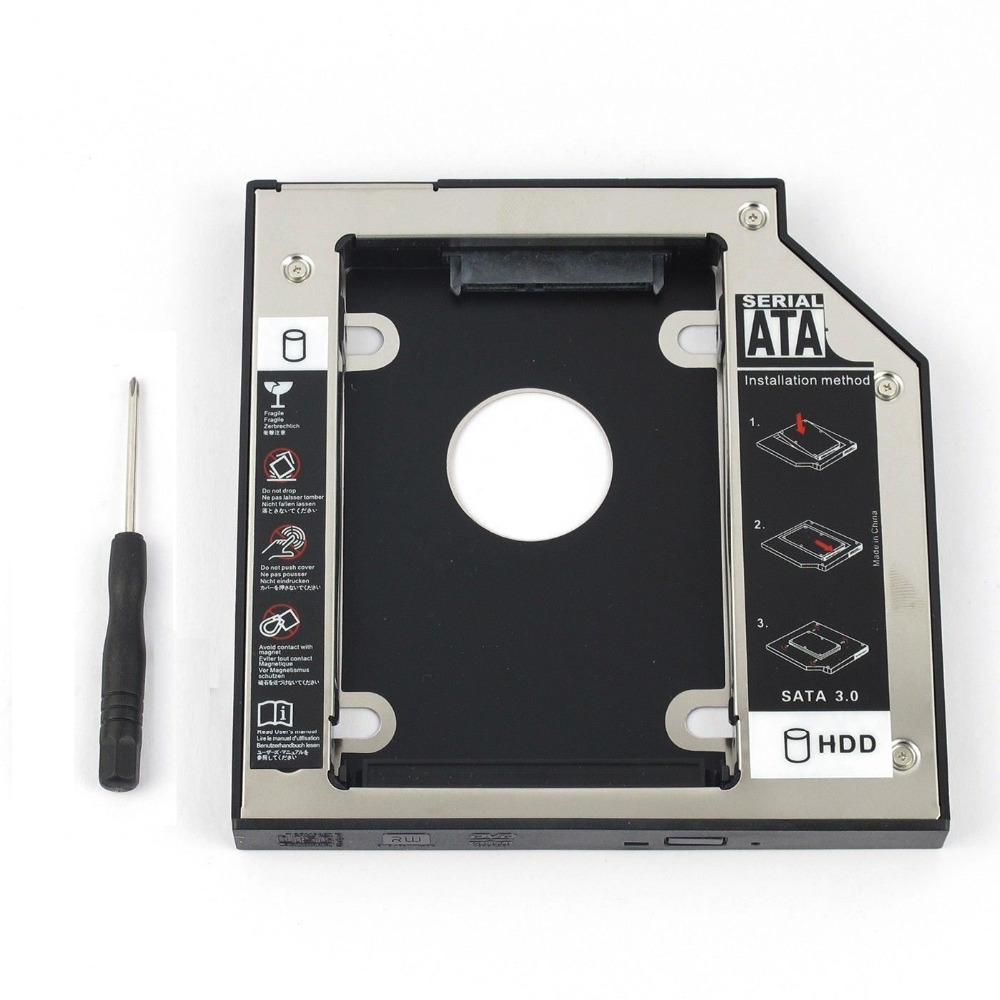 WZSM New Wholesale 2nd SATA HDD Hard Drive Caddy 12.7mm for <font><b>DELL</b></font> Studio <font><b>1435</b></font> 1440 1457 1535 1536 1555 1557 1558 image