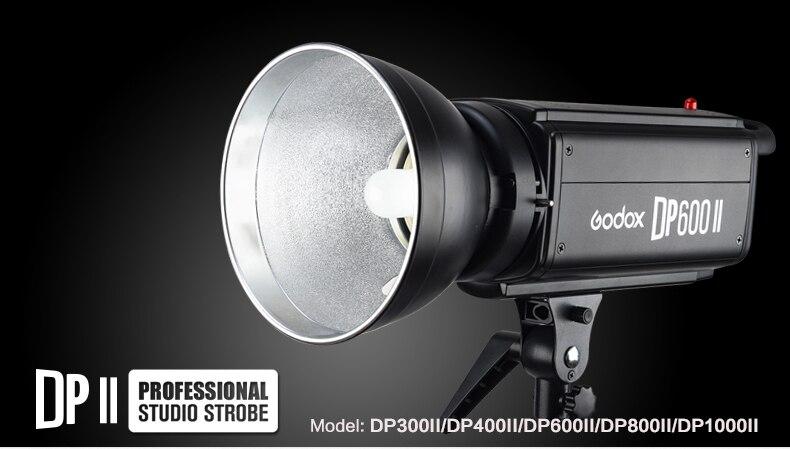 Godox DP600 II 600W GN80 Professional Studio Strobe with Built-in 2.4G Wireless X System