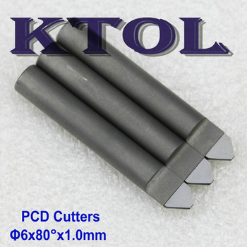 80 Degree 6x1.0MM V End Mill Diamond CNC Bit Engraving Tools for Granite Stone Top PCD Engraving Router Bit CNC Milling Cutter