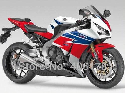 Горячие продаж,для Honda CBR1000RR Огненный синий белый красный ПЦ 2012 2013 2014 полный комплект мотоцикл обтекатель комплект (литья под давлением)