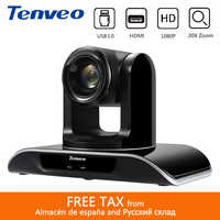 Tenveo VHD203U 1080p60fps HD 20X Zoom PTZ HDMI Camera Video Conference Simultaneous HDMI USB3.0 Output for YouTube Facebook