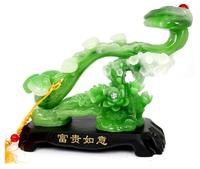 Resin carved jade prosperous ruyi home sitting room decorate gifts crafts