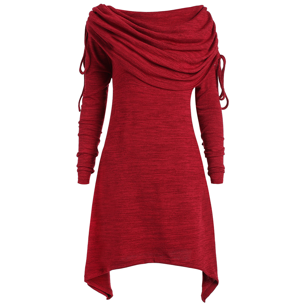 LANGSTAR 2017 Autumn Women Big Size Top Casual Long Foldover Collar Ruched Shirt Women Long Sleeve Plus Size Woman Clothes 5XL