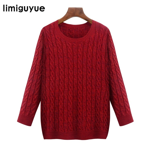 Over Size Women Autumn Winter Sweater Solid Designer Brand Twist ...