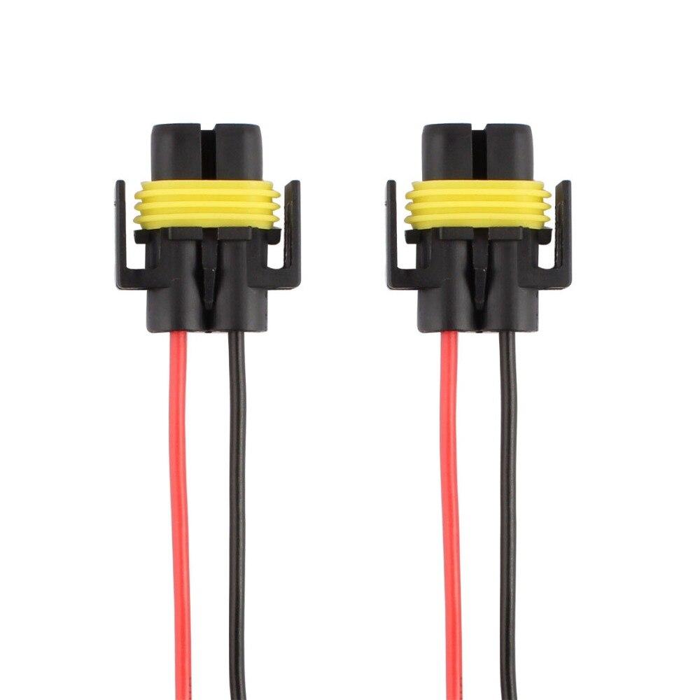 Pack of 2 TOMALL H11 H8 880 Headlight Female Sockets Adapter for LED Xenon Headlight Fog Light Bulbs