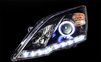 VLAND factory for Car head lamp for CRV 2009 2010 2011 2012 LED Headlight with Angel Eyes and LED Light Bar DRL