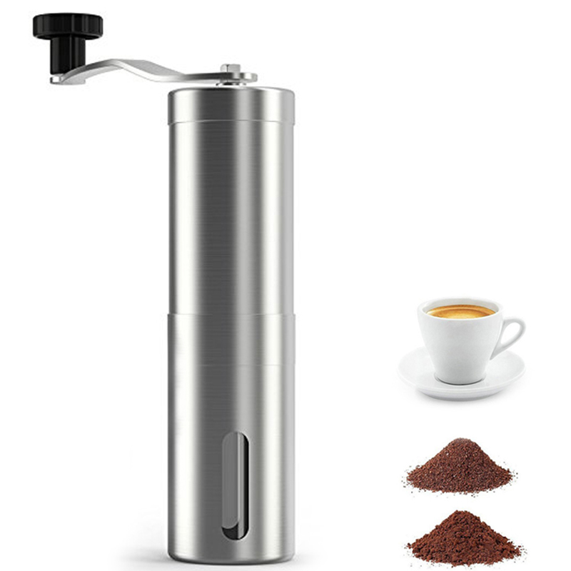 LUCOG Manual Coffee Grinder Consistent Portable Ceramic Grinder Coffee Burr Cup Mini Stainless Steel Coffee Maker Machine manual coffee grinder conical burr mill stainless steel portable hand burr grinders