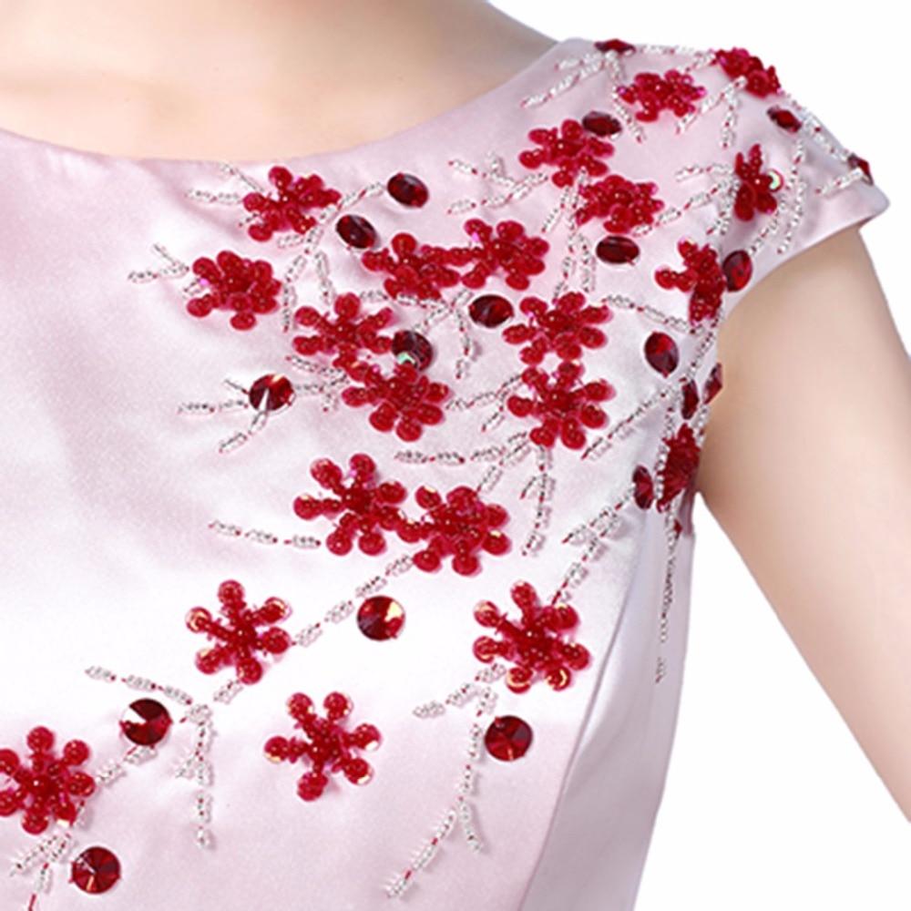 robe de soiree Κόκκινο κρασί Κρύσταλλο - Ειδικές φορέματα περίπτωσης - Φωτογραφία 5