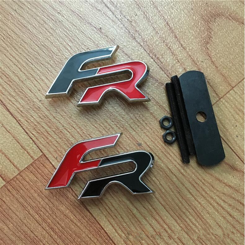Car Styling Hood Grille Grill Badge With Seat FR Logo Emblem Brands Marks new auto car super bee for charger srt8 front grill grille emblem badge 02