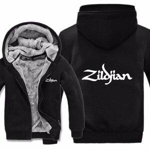 Image 2 - New Winter Zildjian Hoodies Jacket Men Casual Thick Fleece Hip Hop  Zildjian Sweatshirts Pullover Man Coat