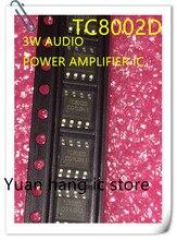 20 יח\חבילה TC8002D TC8002 8002D 3 W אודיו מגבר כוח, אודיו מגבר כוח, IC SOP 8, חדש מקורי