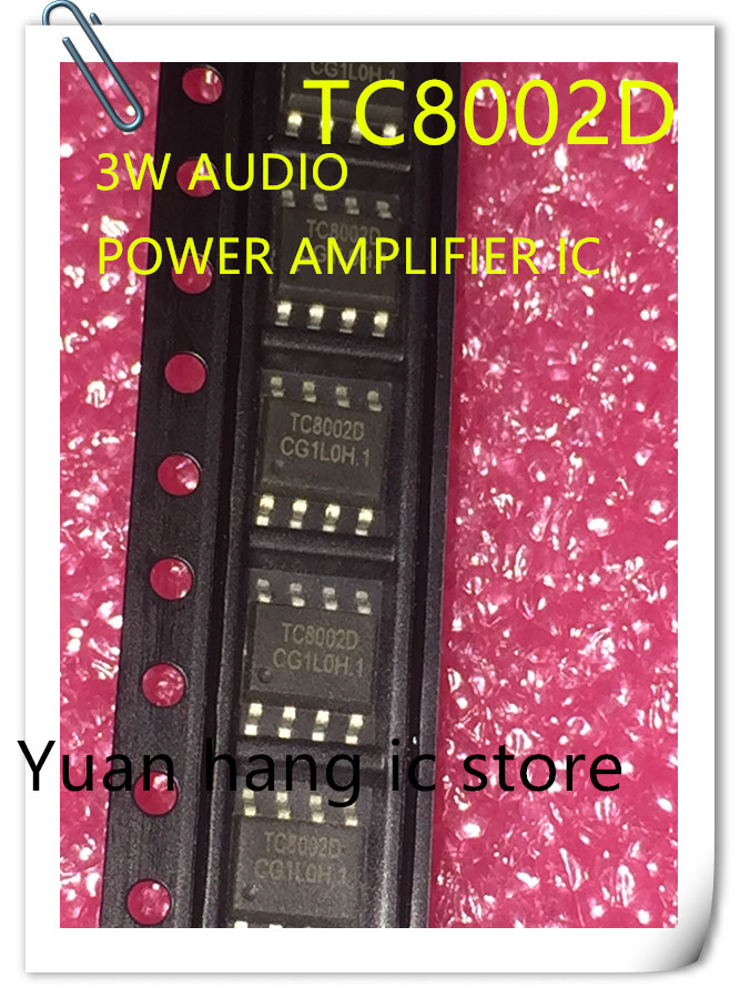 20pcs/lot TC8002D TC8002 8002D 3W Audio Power Amplifier, Audio Power Amplifier, IC SOP-8, New Original