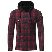 Men S Brand Dress Shirt 2018 Hot New Men Plaid Long Sleeved Casual Shirts Flannel Slim